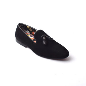 Buy Baku Sued Leather Black Color shoes in Pakistan 4