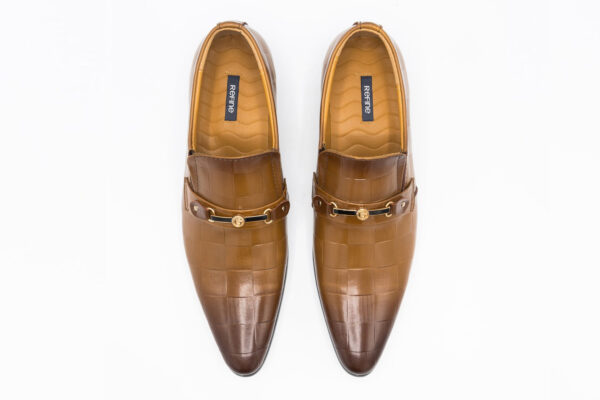 Buy Light Brown Synthetic Leather Tokyo Shoes In Pakistan 2
