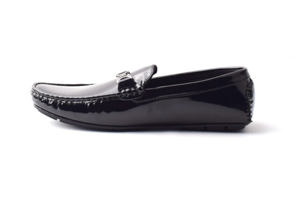 Buy Methew Synthetic Painted leather Black Color Shoes Pakistan 3