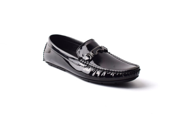 Buy Methew Synthetic Painted leather Black Color Shoes Pakistan 4