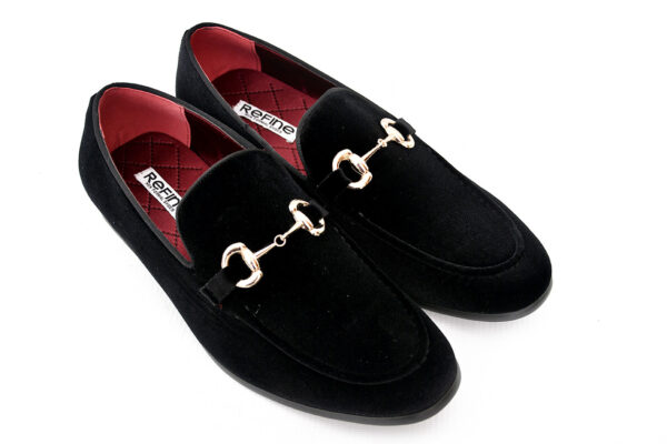 Buy Sultan Black Color Shoes For Men 2