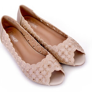 Beautiful Aleeza Wc12 Golden Color Shoes