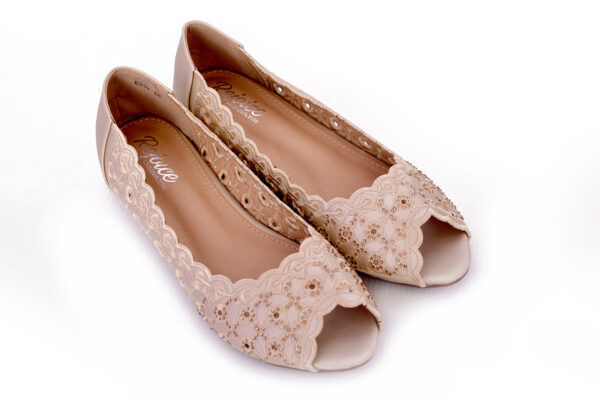 Beautiful Aleeza Wc12 Golden Color Shoes 3
