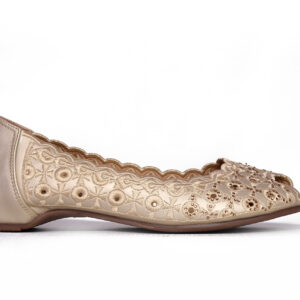 Beautiful Aleeza Wc12 Golden Color Shoes1