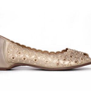 Beautiful Aleeza Wc12 Golden Color Shoes1