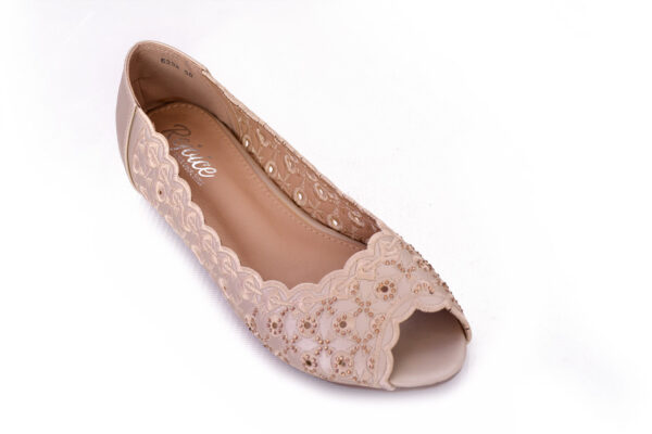 Beautiful Aleeza Wc12 Golden Color Shoes2