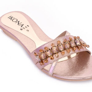 Buy Beautiful Ikona Sw011 Golden Color Shoes 2