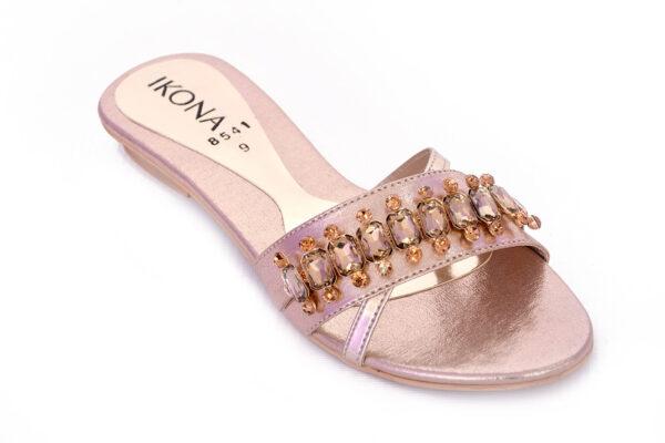 Buy Beautiful Ikona Sw011 Golden Color Shoes 2