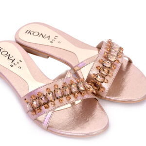Buy Beautiful Ikona Sw011 Golden Color Shoes 3