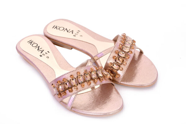 Buy Beautiful Ikona Sw011 Golden Color Shoes 3