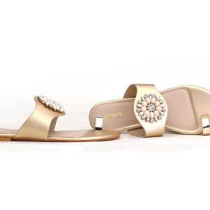 Buy Beautiful Sohana 002 Golden Color Shoes 1