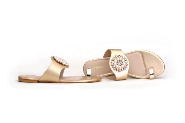 Buy Beautiful Sohana 002 Golden Color Shoes 1
