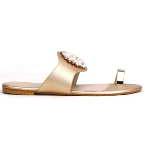 Buy Beautiful Sohana 002 Golden Color Shoes 3