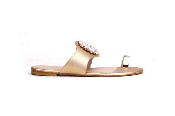 Buy Beautiful Sohana 002 Golden Color Shoes  3