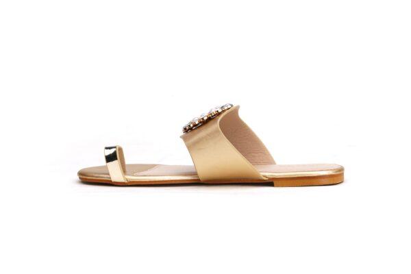 Buy Beautiful Sohana 002 Golden Color Shoes 2