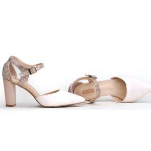 Buy Cat 003 Beige Color Heel Shoes1