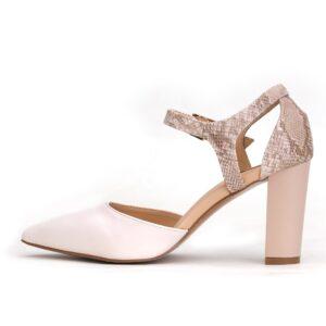Buy Cat 003 Beige Color Heel Shoes 3