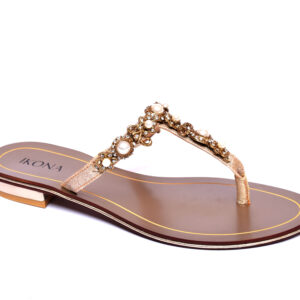Buy IKona Sw002 Golden Color Shoes 2