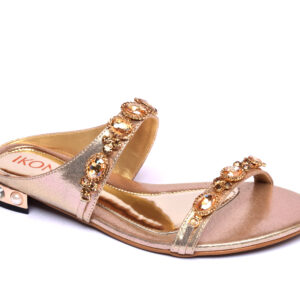 Buy Ikona 001 Golden Color Shoes 1