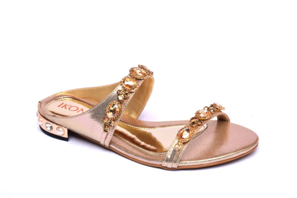 Buy Ikona 001 Golden Color Shoes 1