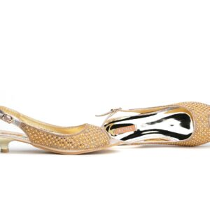 Buy Jasica 001 Golden Color Shoes 1