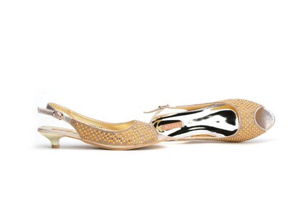 Buy Jasica 001 Golden Color Shoes 1