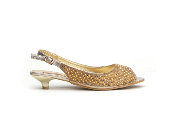 Buy Jasica 001 Golden Color Shoes 2
