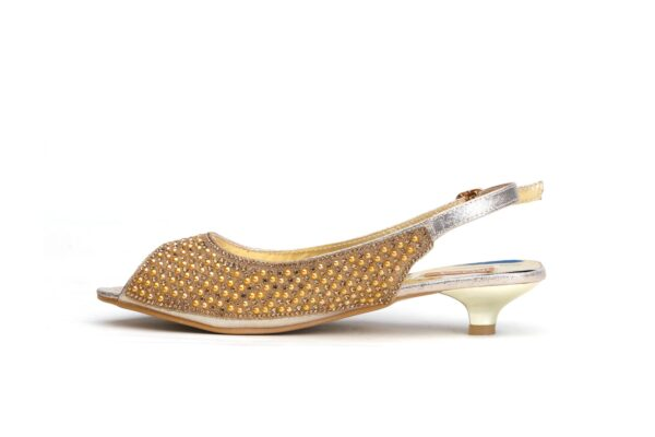 Buy Jasica 001 Golden Color Shoes 3