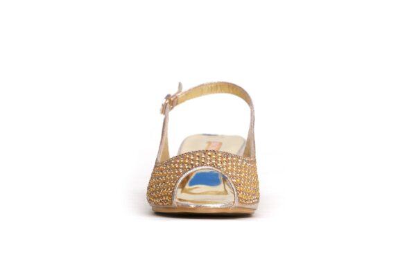 Buy Jasica 001 Golden Color Shoes 4