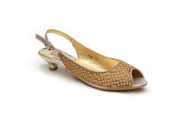 Buy Jasica 001 Golden Color Shoes 5