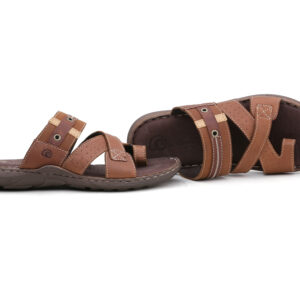 Buy Portus Black,and Brown Color Slipper 1