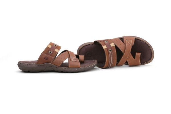Buy Portus Black,and Brown Color Slipper