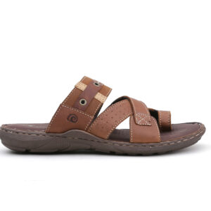 Buy Portus Black,and Brown Color Slipper 2