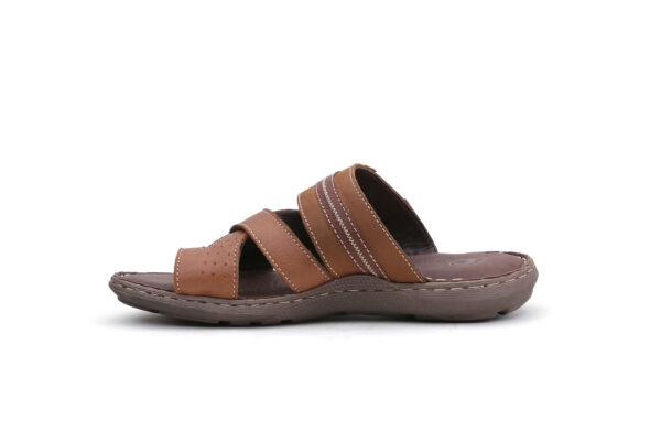 Buy Portus Black,and Brown Color Slipper  3