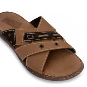 Buy Portus Soya Color Leather Slipper 3