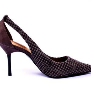 Cat Heel Grey Color Shoes 2