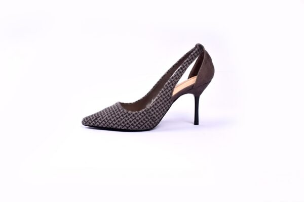 Cat Heel Grey Color Shoes 3