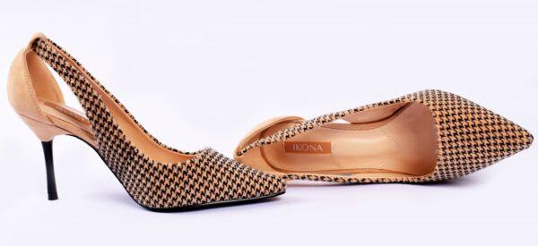Cat Heel Grey Color Shoes 4