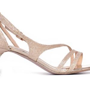 Golden Color Ladies Cat 005 Heel Shoes 1