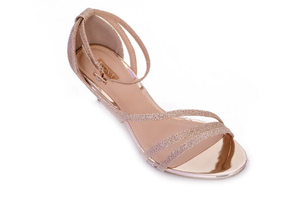Golden Color Ladies Cat 005 Heel Shoes 2
