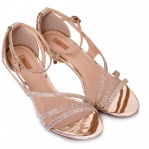 Golden Color Ladies Cat 005 Heel Shoes 3