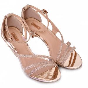 Golden Color Ladies Cat 005 Heel Shoes 3
