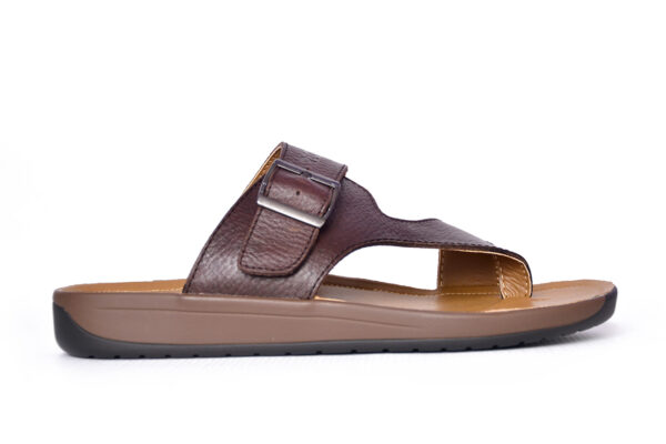 Jimmy Leather Material Coffee Color Slipper 1