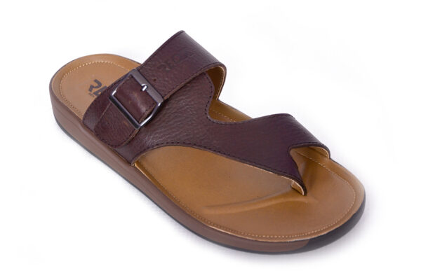 Jimmy Leather Material Coffee Color Slipper 2