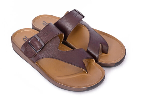Jimmy Leather Material Coffee Color Slipper 3